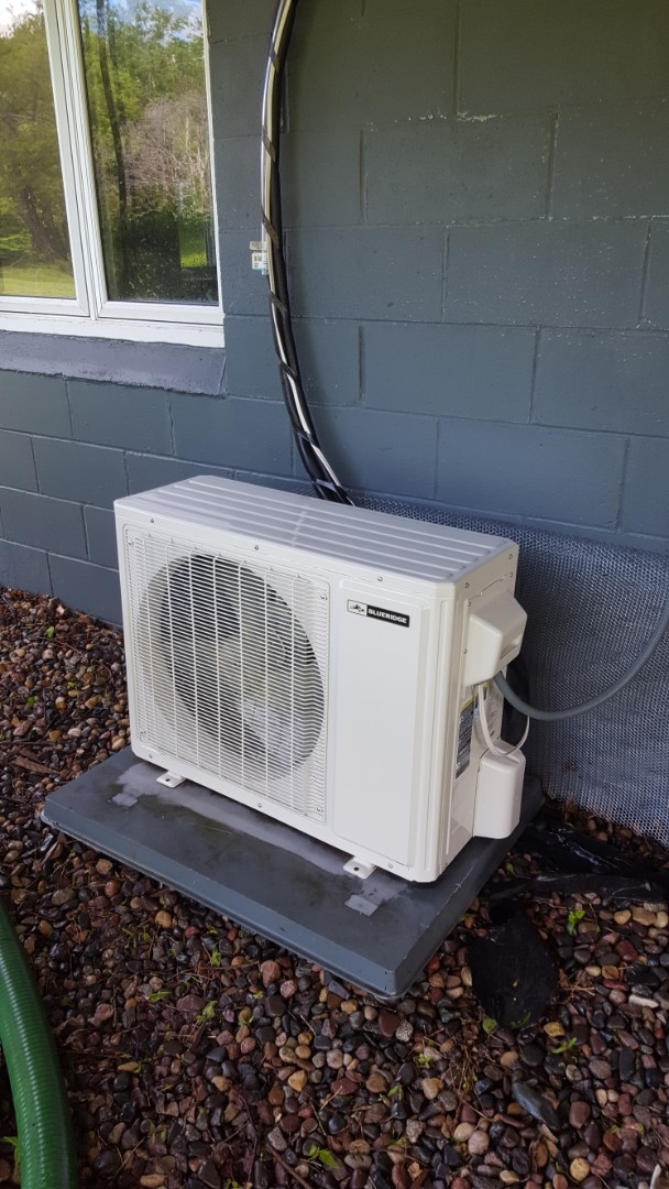 Corcoran, MN - Cooling maintenance. Performed a cleaning and tune up on Blueridge mini split heat pump.