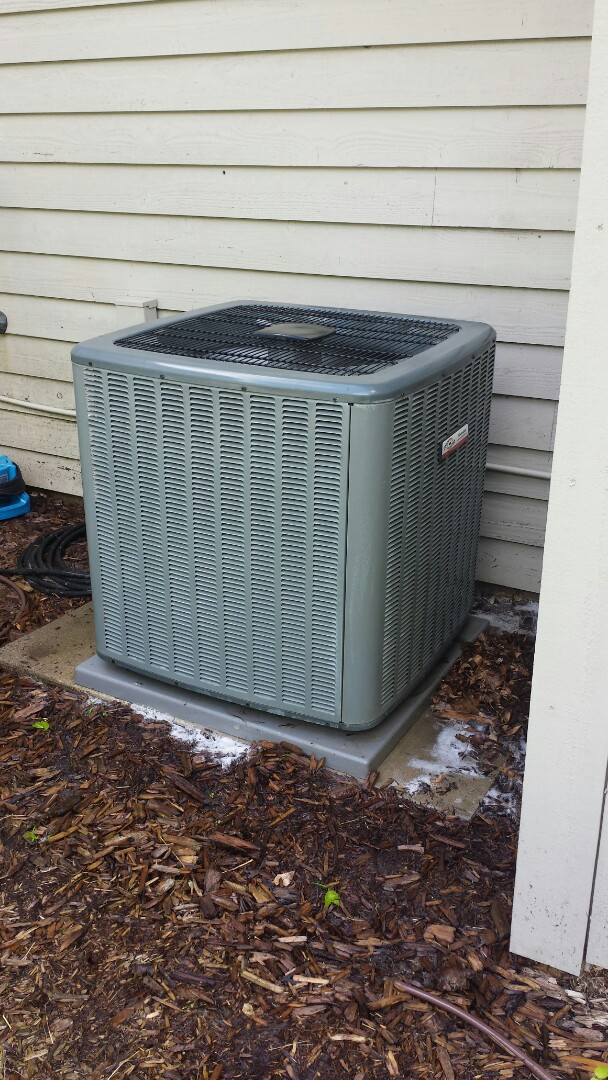 Medina, MN - Spring maintenance call. Performed tune up and cleaning on Comfort Matters air conditioner