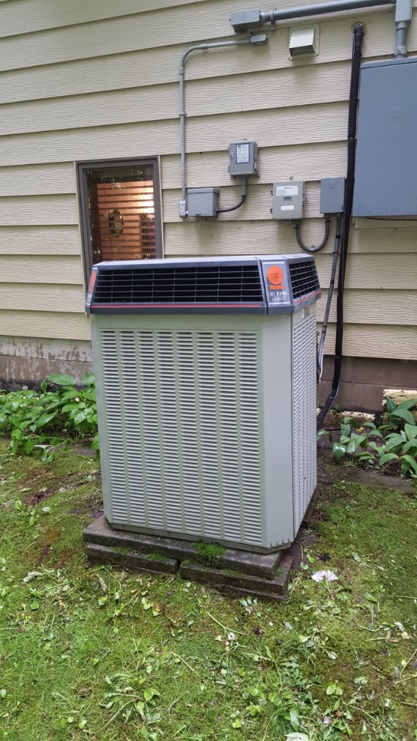 Corcoran, MN - Cooling maintenance. Performed a cleaning and tune up on Trane air conditioner. Also installed a hard start kit and a fan capacitor.