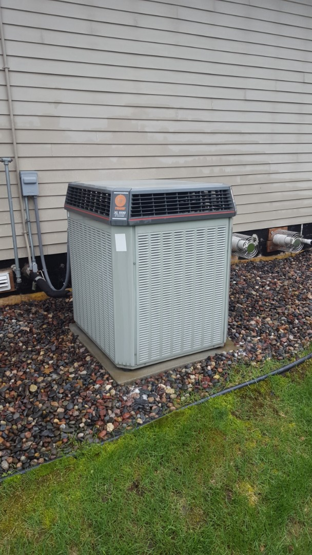 Plymouth, MN - Air conditioner maintenance. Performed a cleaning and tune up on Trane AC and installed a capacitor.