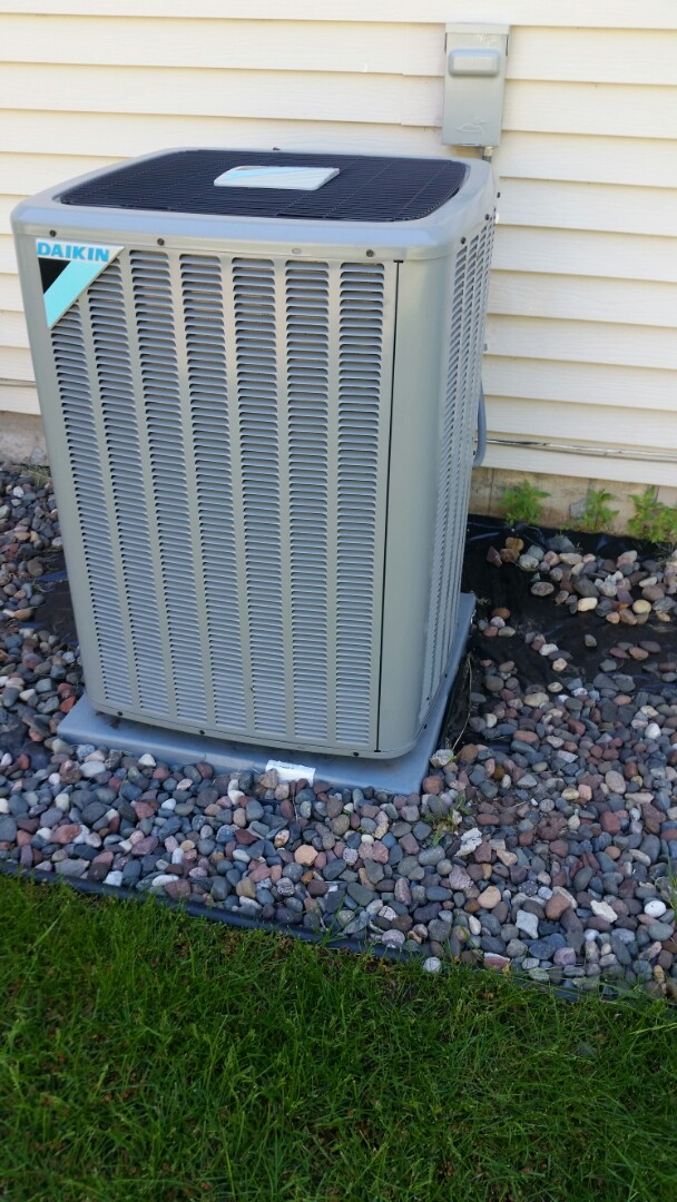 Monticello, MN - A/C start up and Tune up on new Daikin unit in Monticello