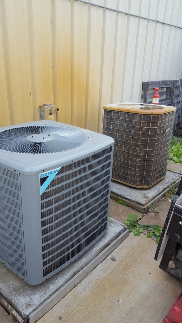 Corcoran, MN - Commercial air conditioner service. Performed a cleaning and tune up on on a ICP A/C. Also replaced two Honeywell media filters.