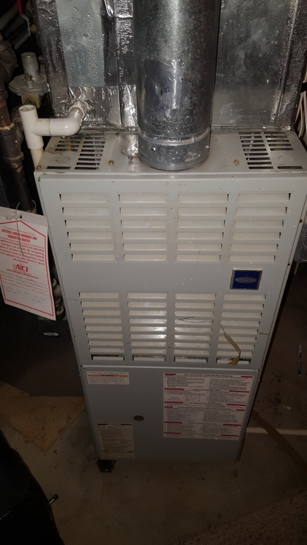 Rogers, MN - A/C service. Installed a new blower motor on a Carrier furnace.