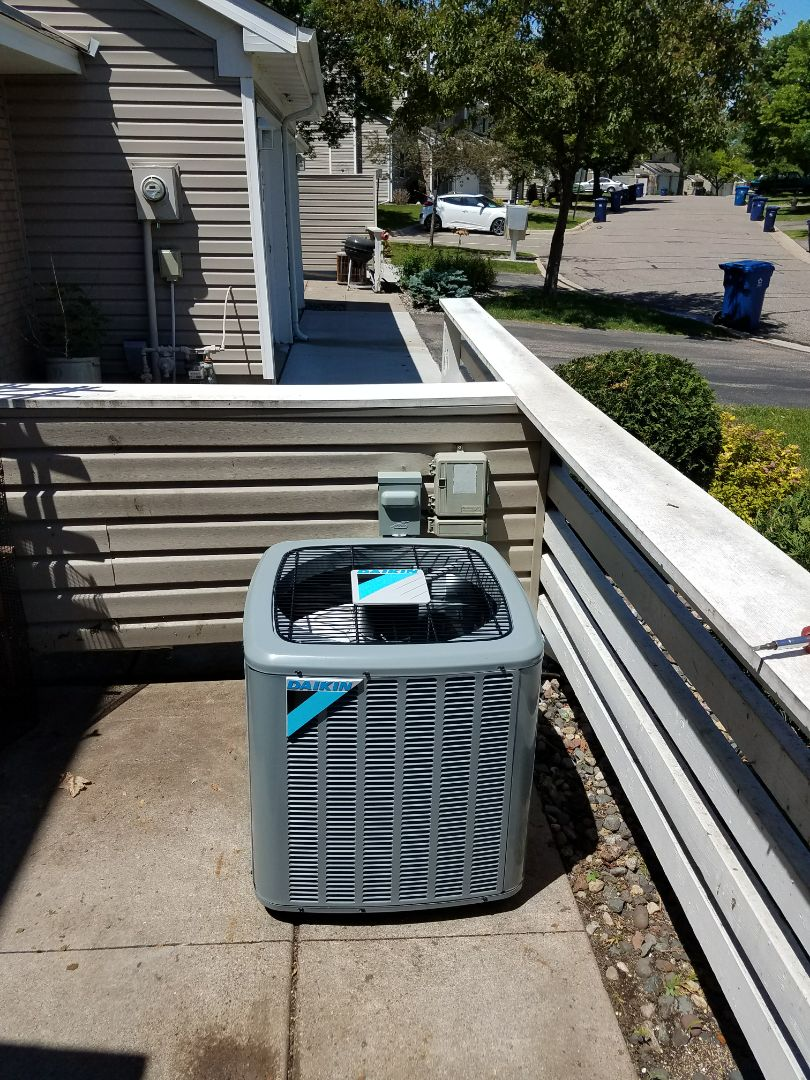 Plymouth, MN - New furnace and air conditioner installation