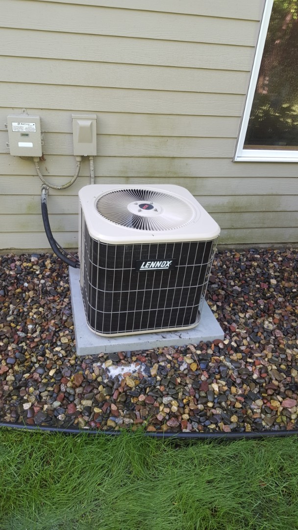 Hopkins, MN - A/C maintenance. Performed a cleaning and tune up on a Lennox air conditioner.