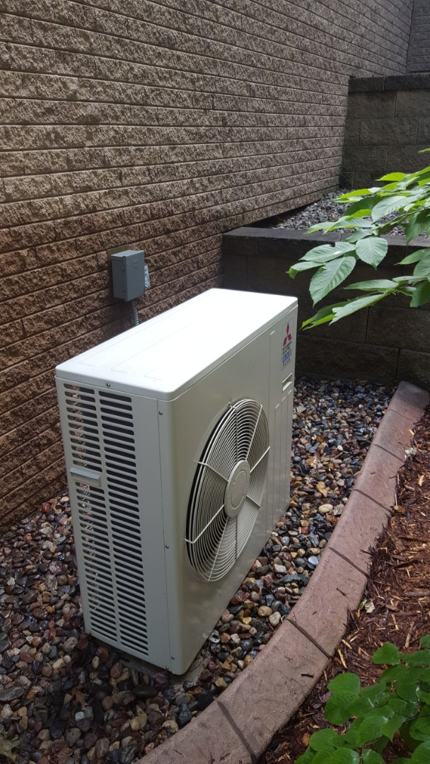Plymouth, MN - Air conditioning maintenance. Performed a cleaning and tune up on a Mitsubishi mini split AC.