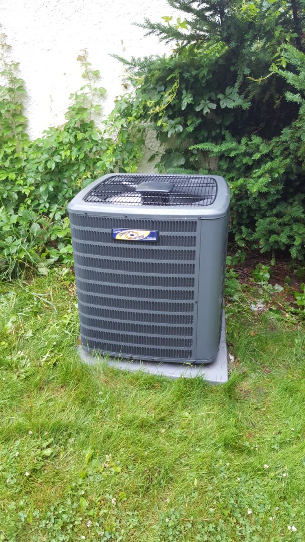 Delano, MN - AC maintenance. Performed a cleaning and tune up on a Comfort Matters air conditioner.