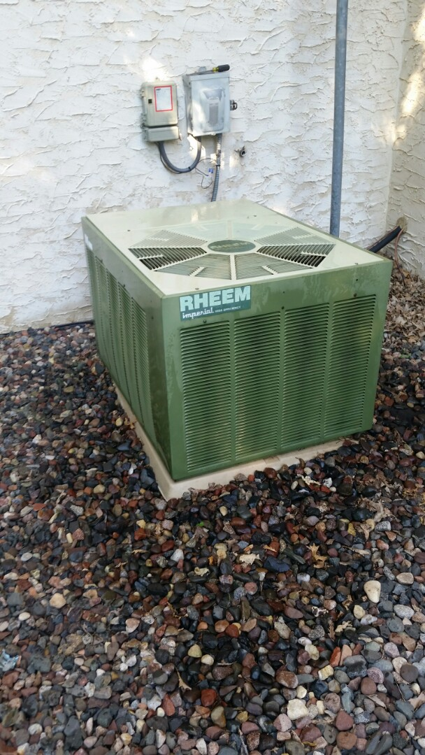 Hanover, MN - A/C maintenance on Rheem unit in Hanover