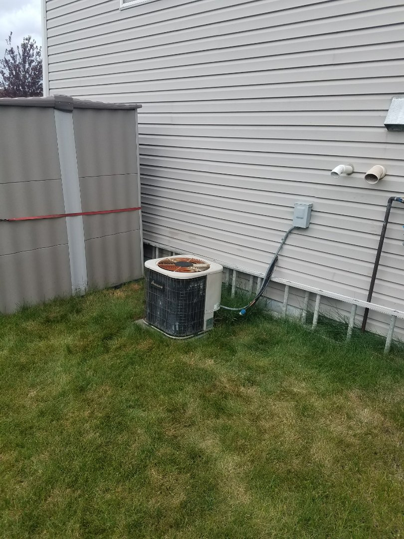 Rogers, MN - Air conditioner cleaning and tune up on an Amana