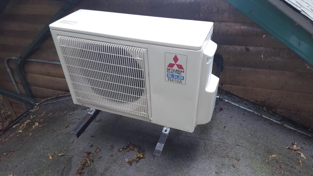 Golden Valley, MN - Air conditioner maintenance. Performed a cleaning and tune up on Mitsubishi mini split heat pump.