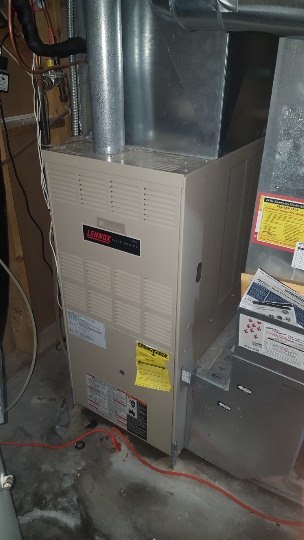 Rogers, MN - AC service. Installed a blower motor and capacitor on a Lennox furnace.