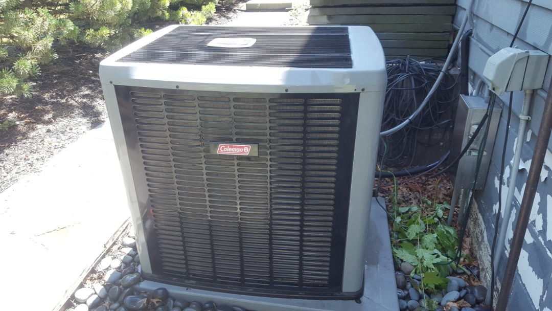 Maple Grove, MN - Air conditioning service. Performed a cleaning and tune up on Coleman AC. Also diagnosed a failed Honeywell zone damper motor.