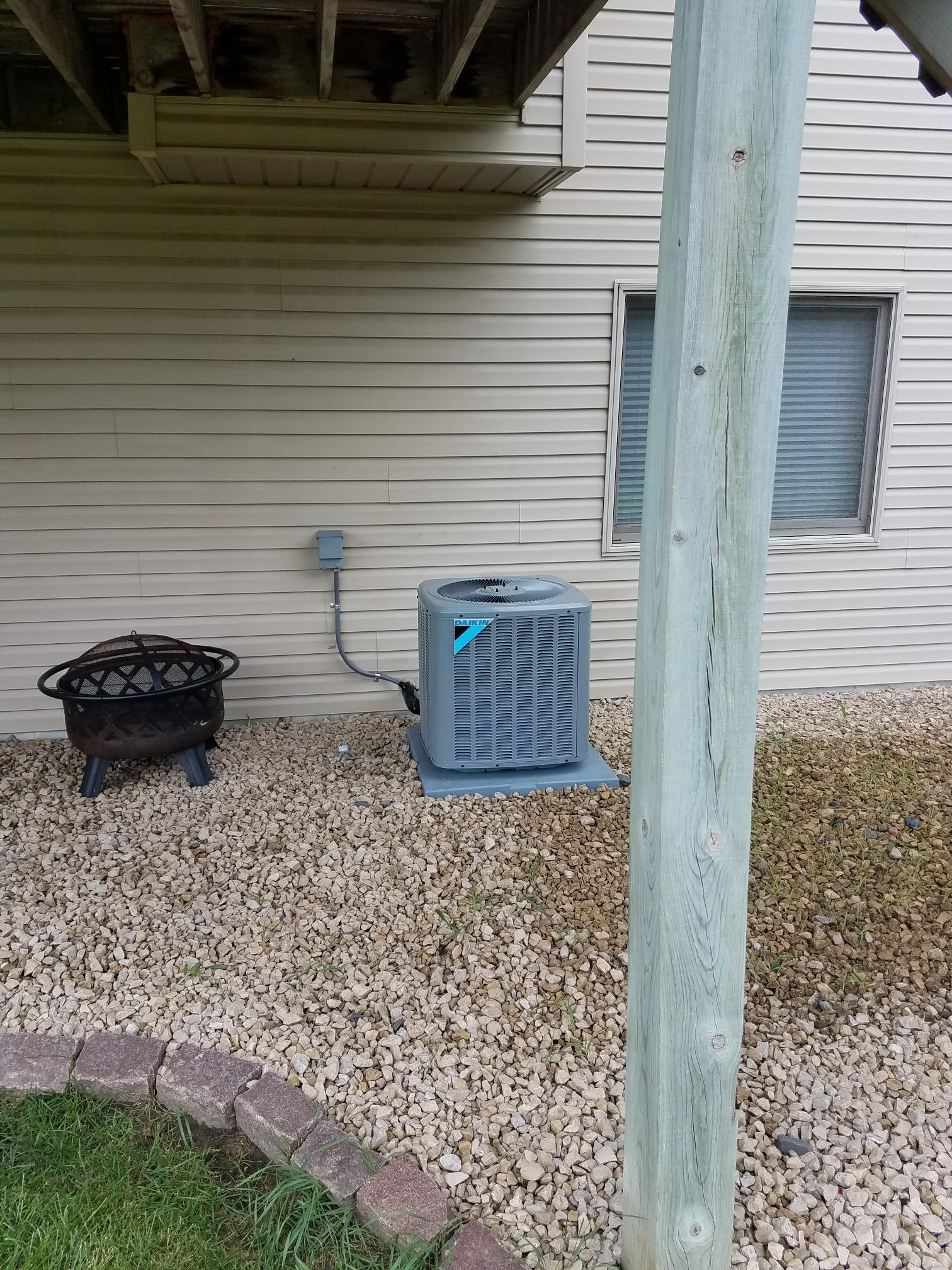 Osseo, MN - Installed daikin air conditioner
