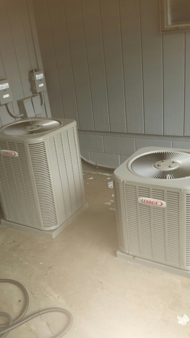 Fridley, MN - Two A/C tune ups on Lennox units in Fridley.