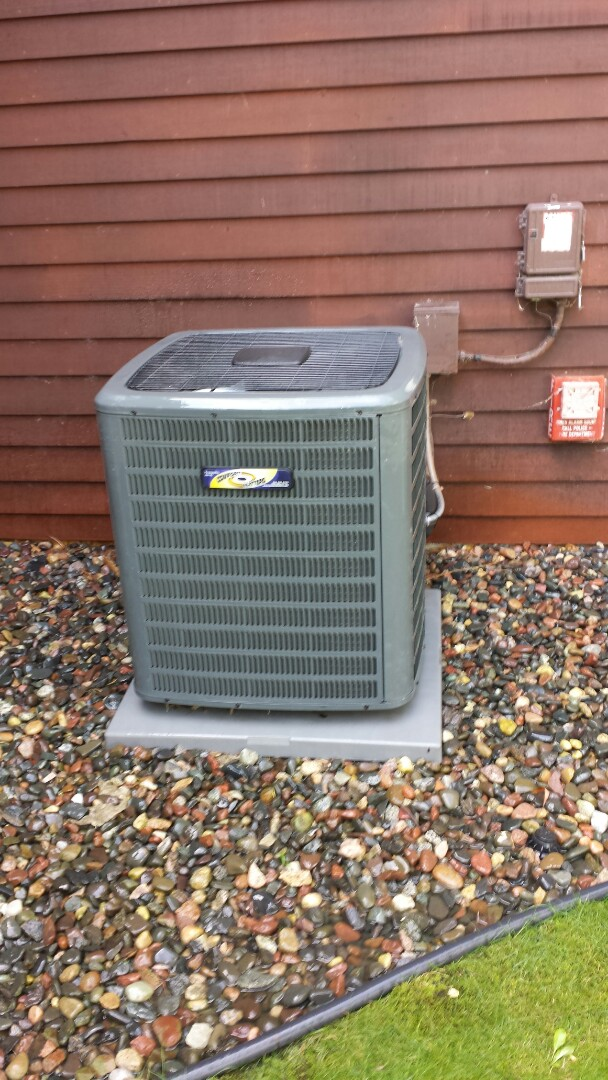 Minneapolis, MN - A/C tune up and cleaning on Daikin unit in Plymouth.