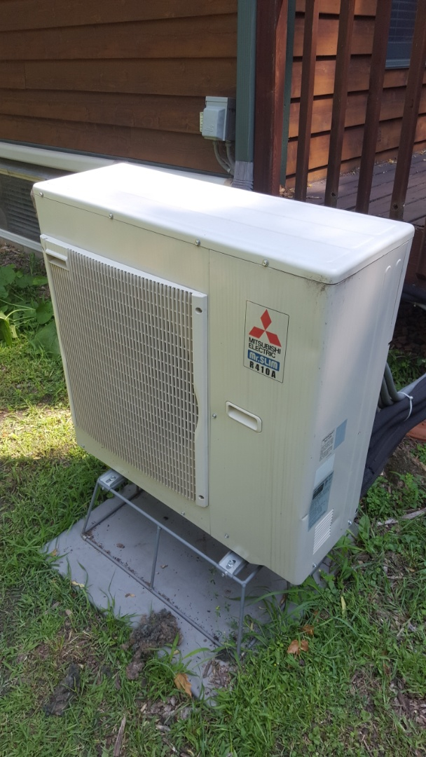 Minnetrista, MN - Air conditioning service. Diagnosed a bad control board and sensor on a Mitsubishi mini split heat pump.