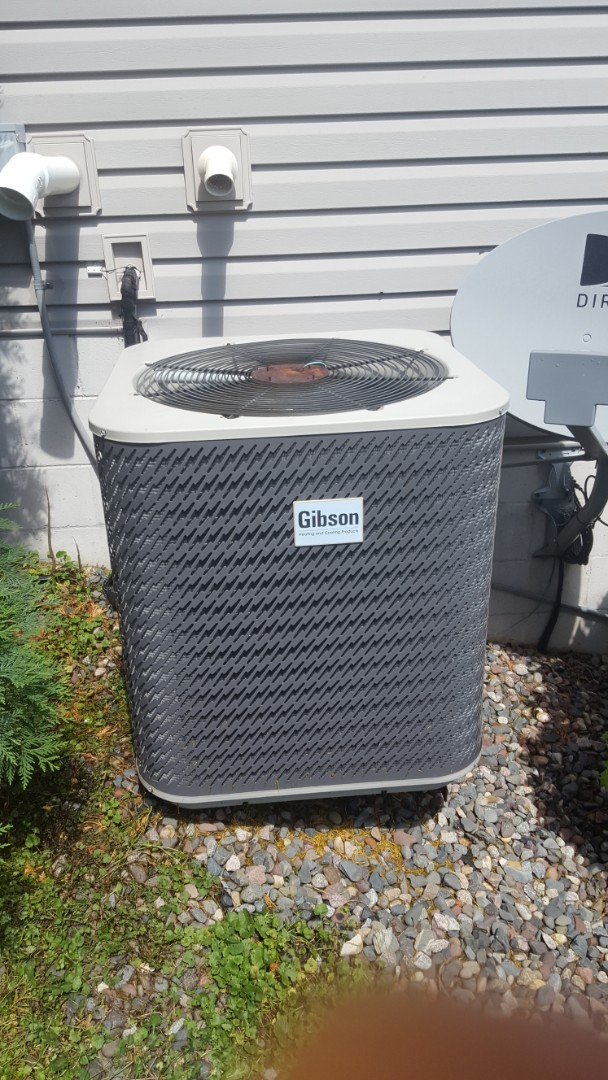 Elk River, MN - Air conditioner maintenance. Performed  a cleaning and tune up on a Gibson air conditioner and Broan HRV HEPA air exchanger.
