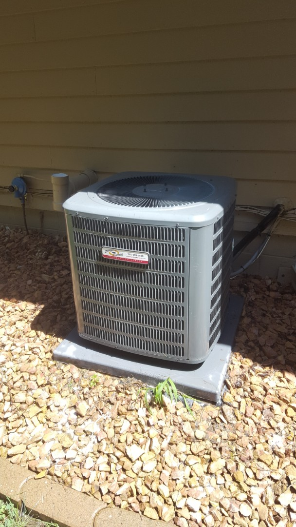 Elk River, MN - AC maintenance. Performed a cleaning and tune up on Comfort Matters air conditioner.