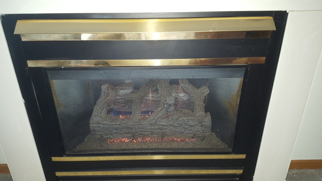 Champlin, MN - Fireplace service. Installed a thermopile and performed a cleaning and tune up on a Majestic fireplace.