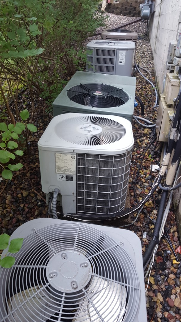 Eden Prairie, MN - Air conditioning service. Performed a cleaning and tune up on Heil air conditioner.