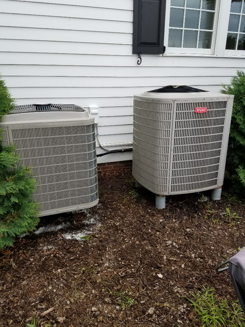 Medina, MN - Dual Bryant ac/ heat pump tune up and cleanings