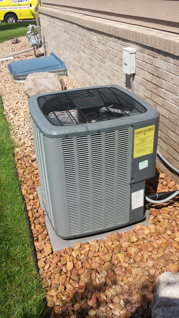 Becker, MN - Air conditioning maintenance on Amana unit in Becker