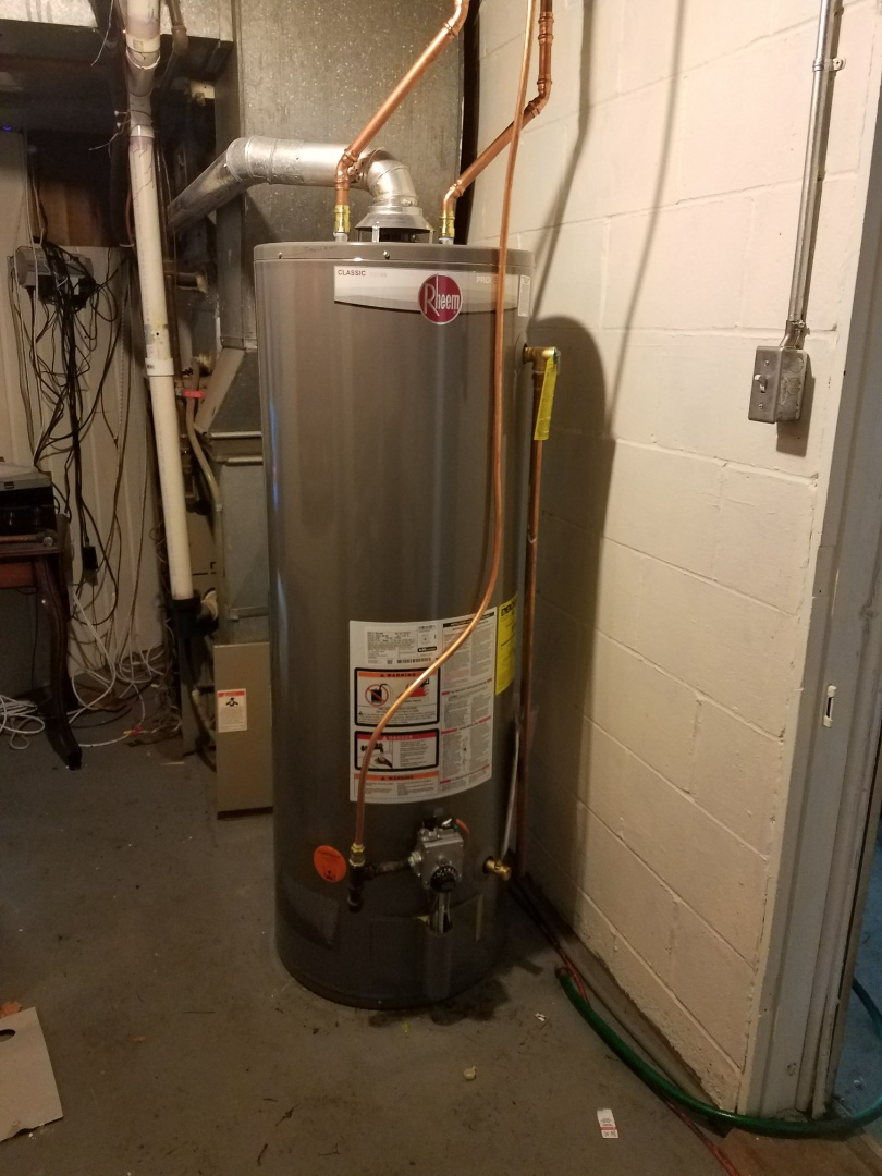 Long Lake, MN - Rheem water heater install