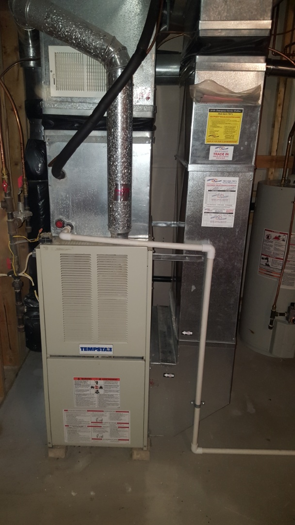 Blaine, MN - Heating service. Installed a heat exchanger and performed a blower wheel cleaning on a Tempstar furnace.