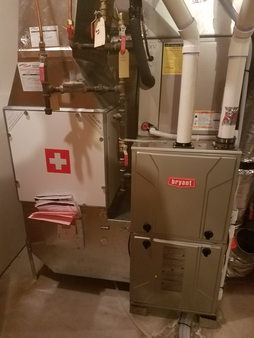 Ramsey, MN - Performed tune up and cleaning on Bryant furnace