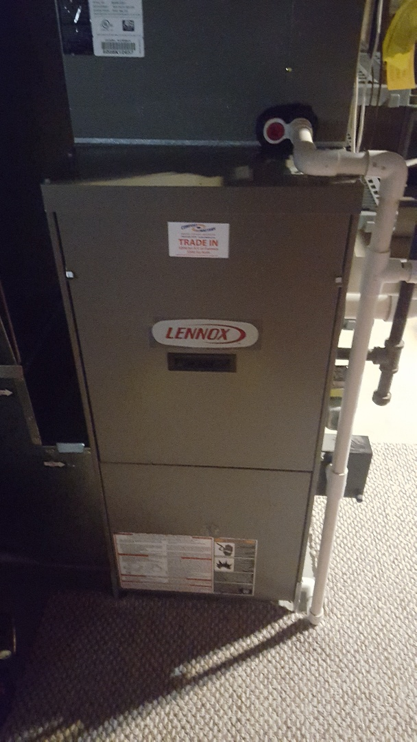 Elk River, MN - A/C service. Installed a blower motor and capacitor on a Lennox furnace.