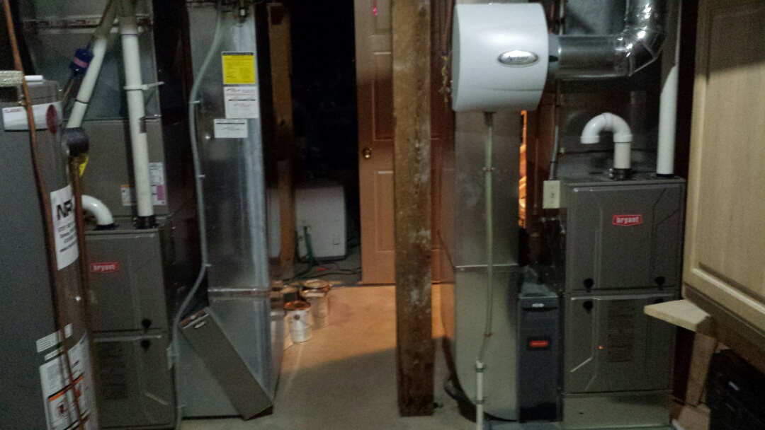 Maple Plain, MN - Furnace tune ups on 2 Bryant 90+% efficient units in Maple plain