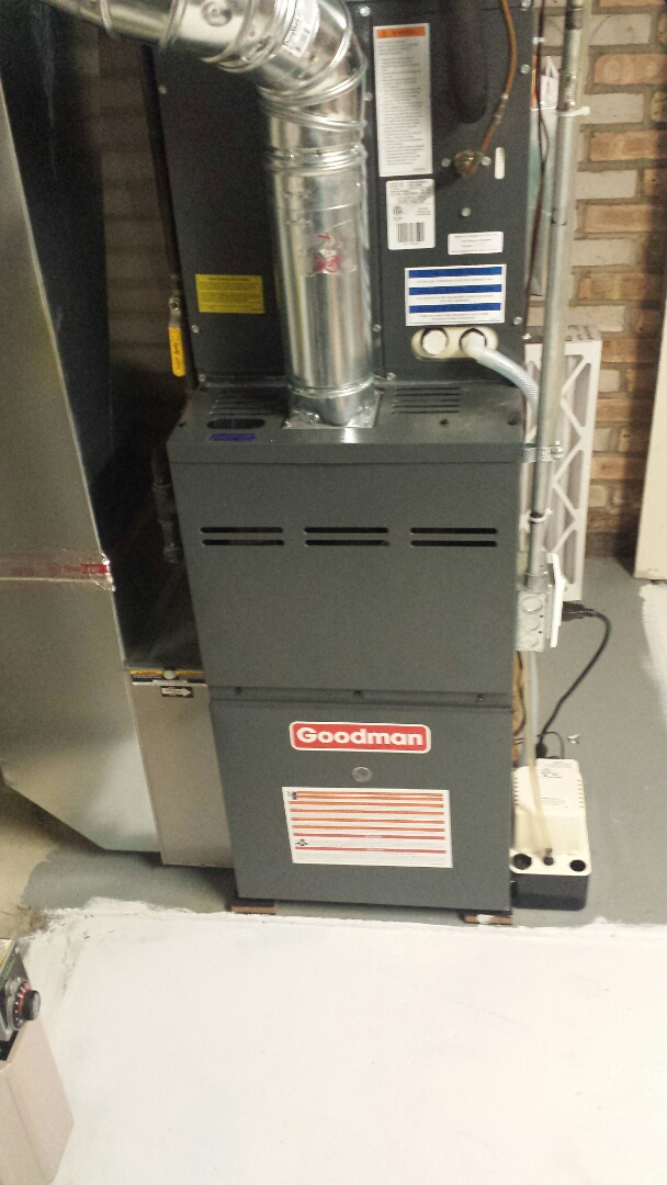 Hopkins, MN - Furnace tune up on 80% efficient goodman unit in Minnetonka