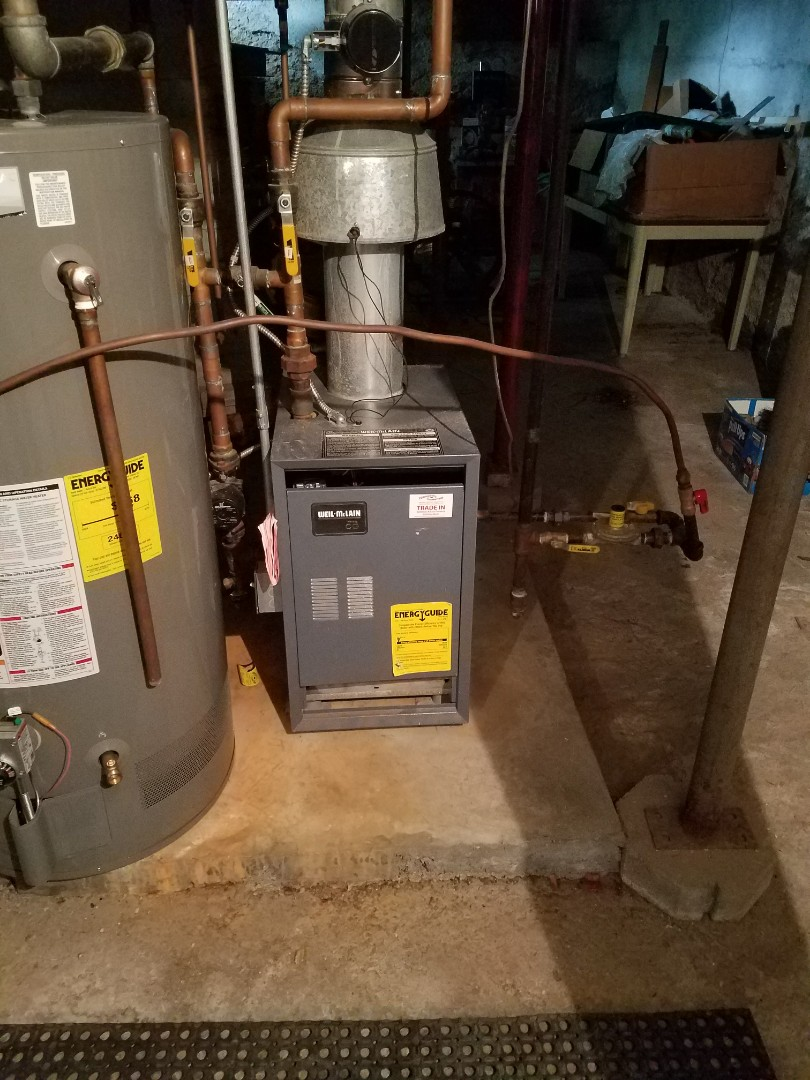 Delano, MN - Weil-McLain boiler tune up and clean.  Replaced primary flame safety