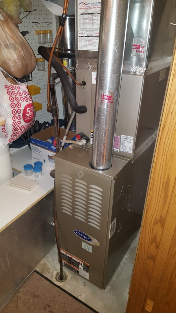 Otsego, MN - Heating service. Reset a snap disc limit and diagnosed a fuel issue on a Bryant furnace.