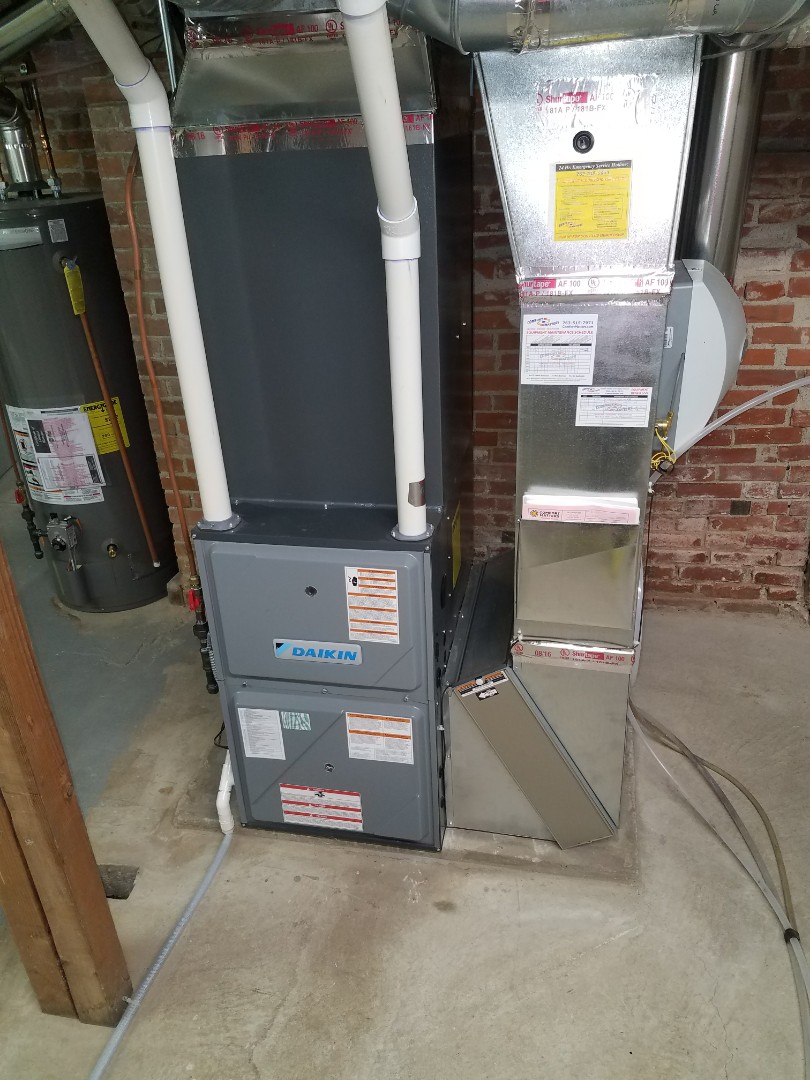 Rockford, MN - Furnace cleaning and tune up on a Daikin