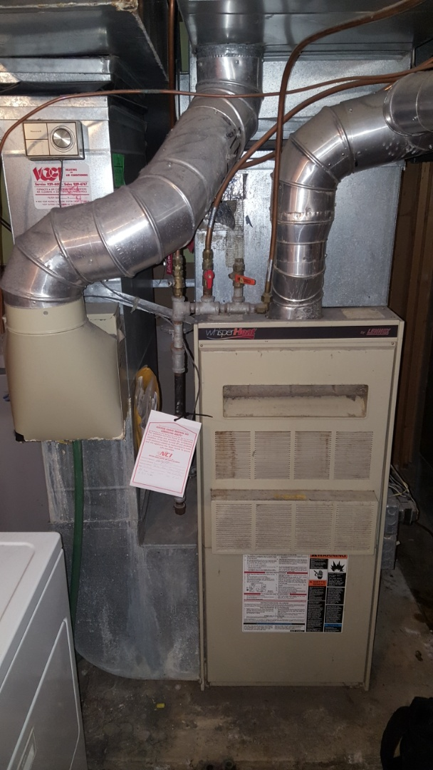 Minnetonka, MN - Heating service. Diagnosed a cracked heat exchanger on Lennox Whisper Heat.
