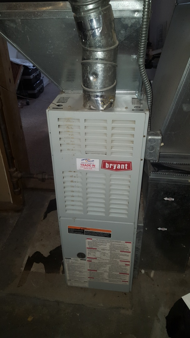 Hopkins, MN - Heating service. Performed a cleaning and tune up on a Bryant furnace.