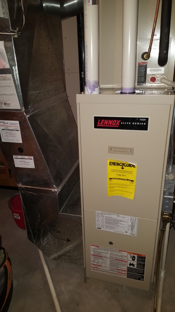 Hopkins, MN - Heating maintenance. Performed a cleaning and tune up on a Lennox furnace.