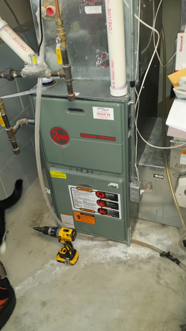 Monticello, MN - Furnace tune up on 90% efficient Rheem unit in Monticello