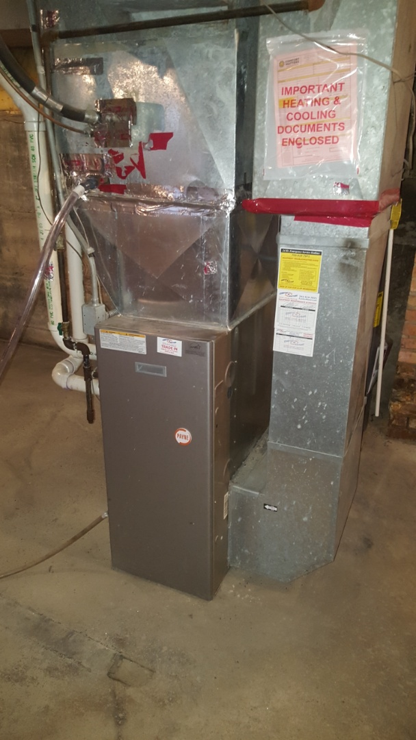 Maple Lake, MN - Heating service. Installed a OEM control board on a  Payne furnace.