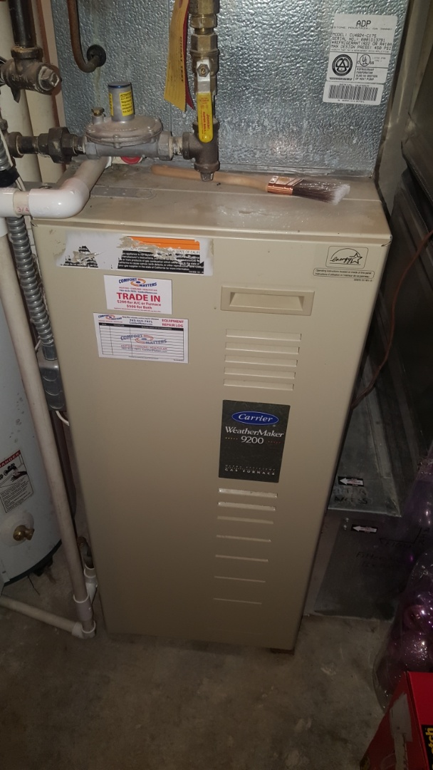 Otsego, MN - Heating service. Diagnosed a failed gas valve on a Carrier furnace.