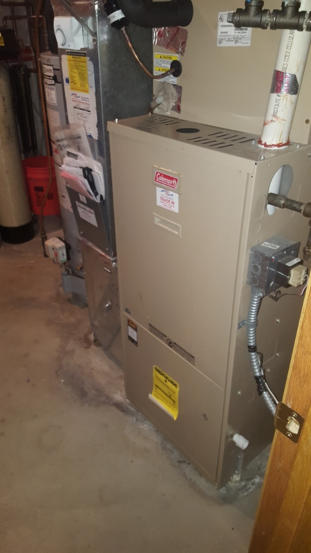 Medina, MN - Heating service. Installed a hot surface igniter on a Coleman furnace. Also performed a tune up on a Honeywell humidifier.