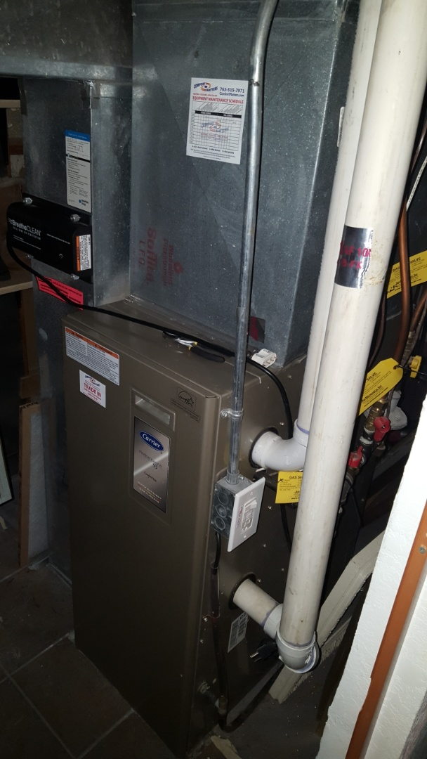 Elk River, MN - Heating service. Installed a low voltage fuse on a Carrier furnace.
