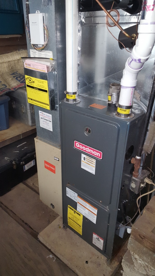 Brooklyn Park, MN - Heating service. Installed a blower motor in a Goodman furnace.