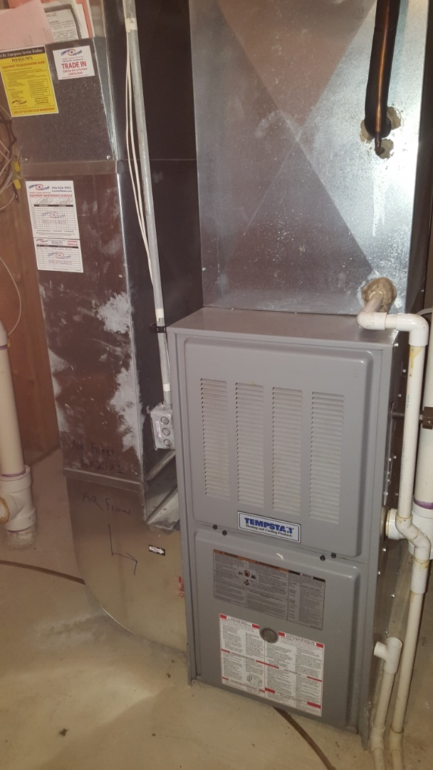Otsego, MN - Heating service. Installed a burner assembly on a Tempstar furnace.