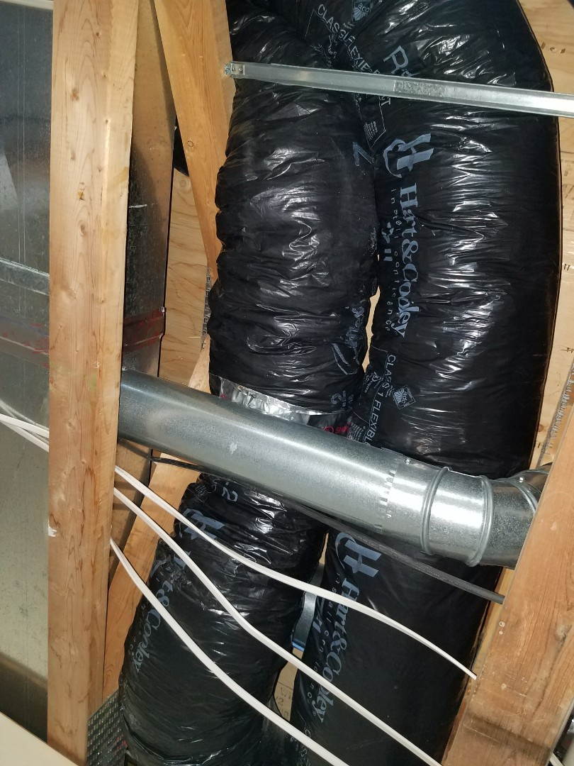Loretto, MN - Installed new flex ductwork after water damage in Hanover