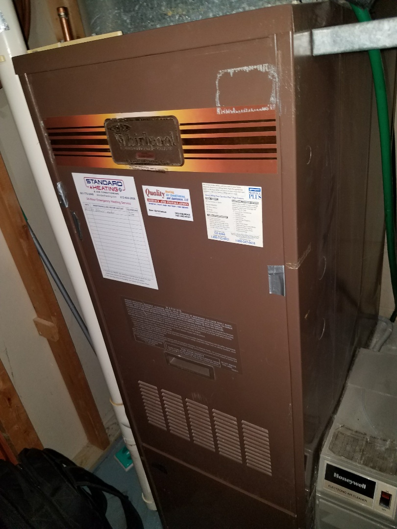 Otsego, MN - Found plugged condensate drain line on whirlpool furnace in Maple Grove
