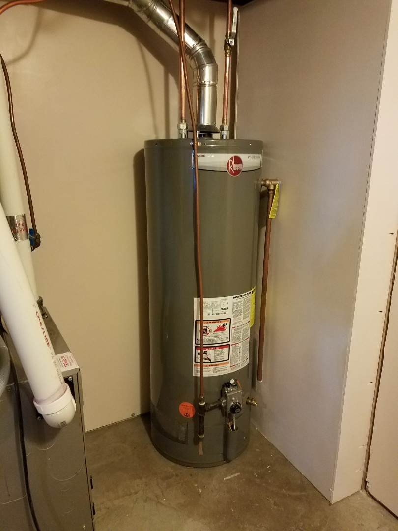 Loretto, MN - 50gallon water heater install and relocation