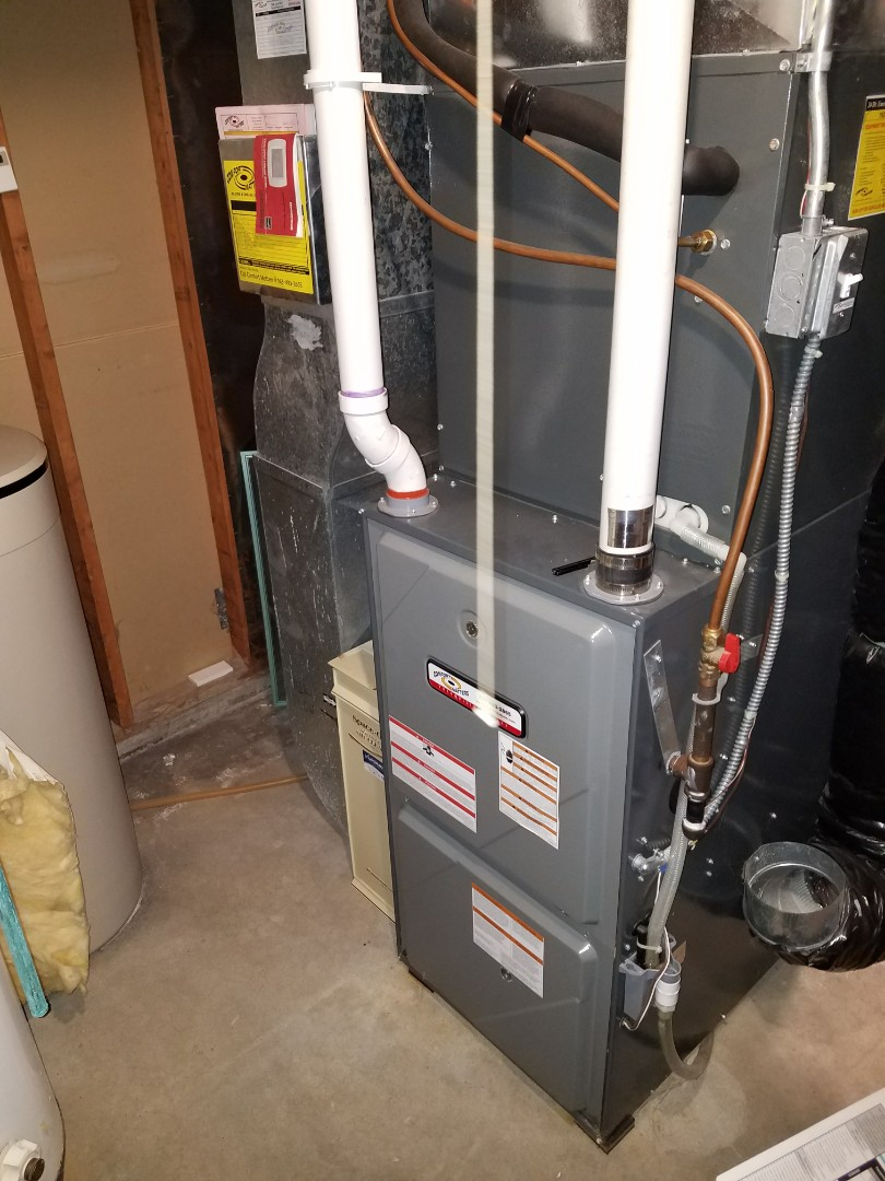 Minnetonka, MN - Heating service. Installed a flame sensor and pressure switch on a Comfort Matters furnace.