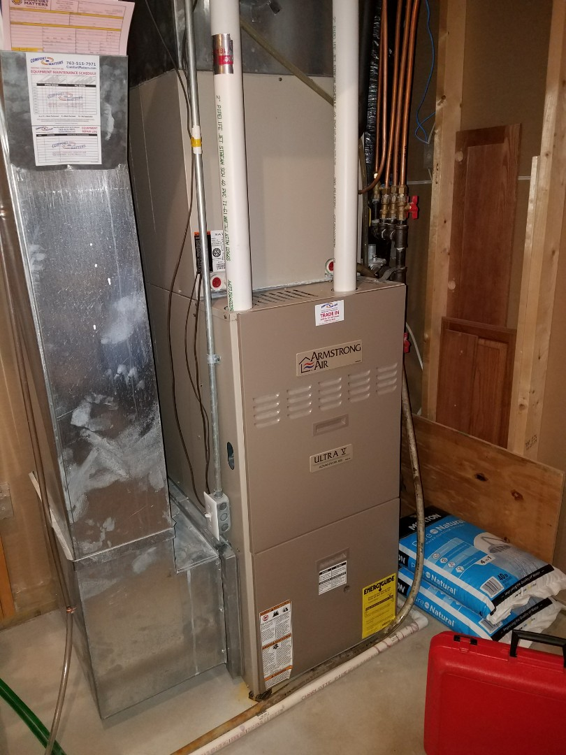 Loretto, MN - Armstrong air furnace tune up and clean